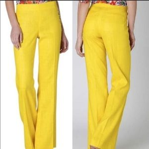 Anthropologie Cartonnier yellow flared pants